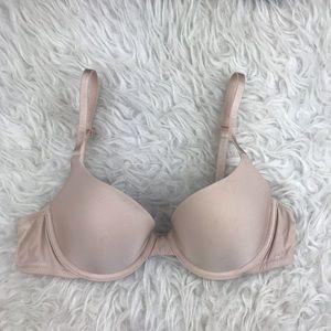 Victoria Secret Nude Lined  Demi  Bra Size 34B